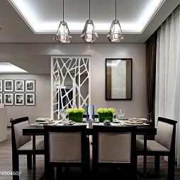 现代餐厅窗帘装修效果图大全