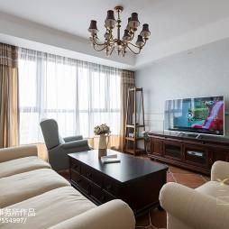 美式客厅窗帘装修效果图大全