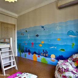 混搭兒童房組合家具設計裝修效果圖