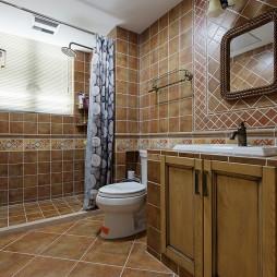 美式风格台盆柜装修图片