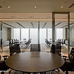 现代金融办公室圆桌会议室效果图片