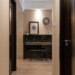 混搭风格三居室过道地板革装修图片