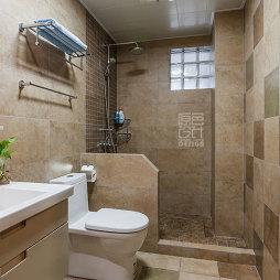 混搭风格三居室浴室置物架装修效果图欣赏