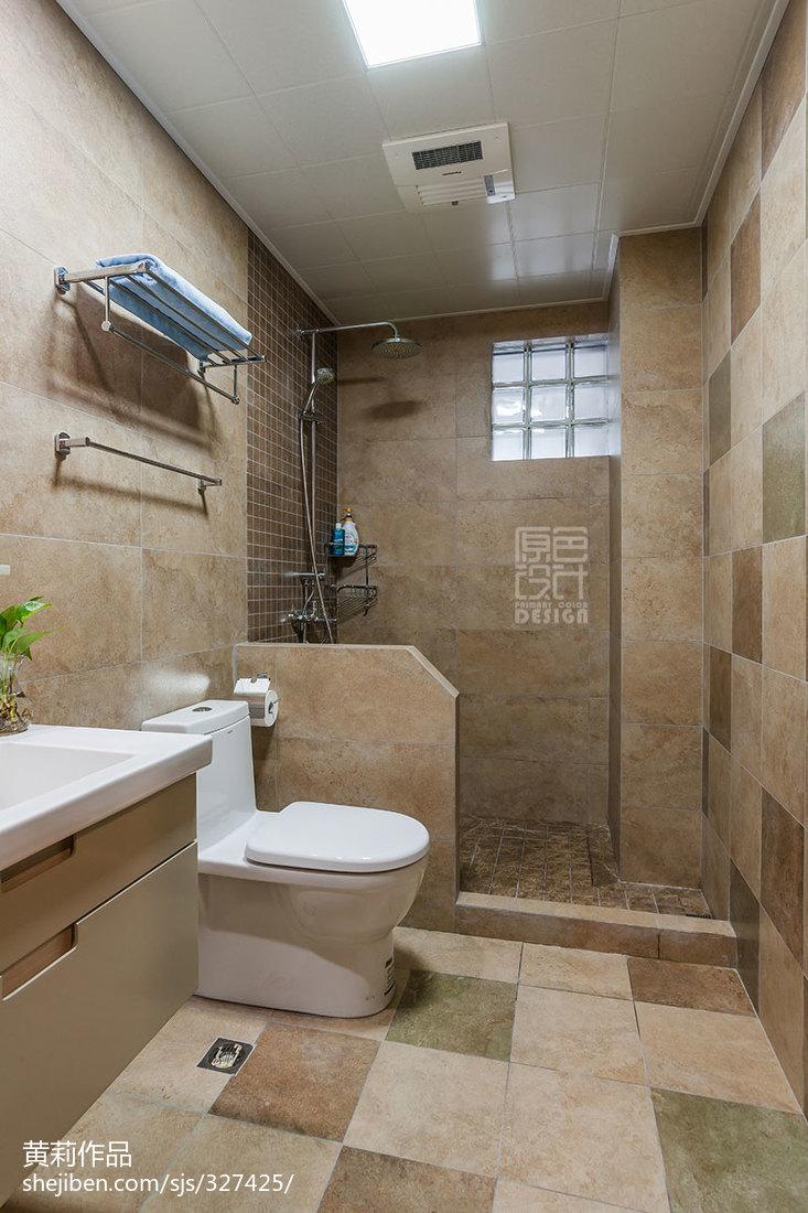 衣帽间门设计效果图_混搭风格三居室浴室置物架装修效果图欣赏 – 设计本装修效果图