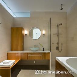 橡木浴室柜装修效果图