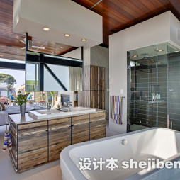橡木浴室柜装修效果图片