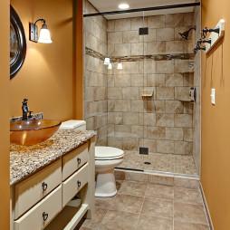 棕色浴室设计