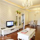 92平米两居室电视柜茶几组合装修图片