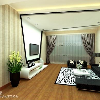 蓝庭国际现代个性电视背景墙装修效果图_1446301
