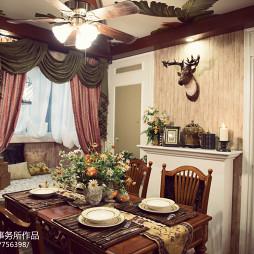 美式红木餐桌装修图片