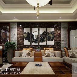 中式家装客厅背景墙设计