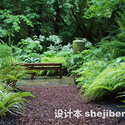 别墅花园景观设计图片库