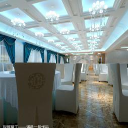 中餐加盟店吊顶装修效果图