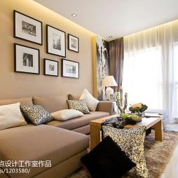 混搭风格客厅窗帘装修效果图大全