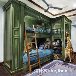男儿童房间设计效果图