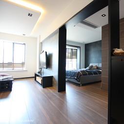 50平米现代客厅卧室隔断设计