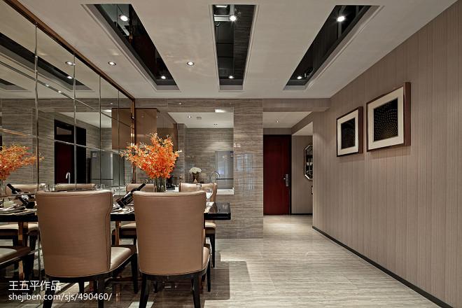 现代风格样板房餐厅吊顶图片