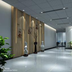 混搭风格企业文化墙设计办公室装修效果图