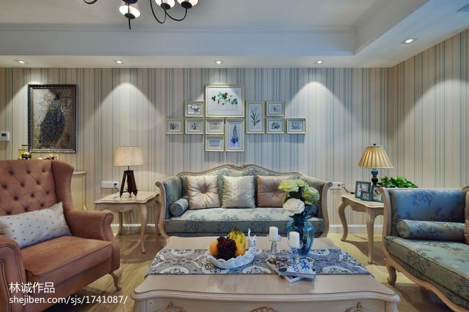 美式风格客厅装修图