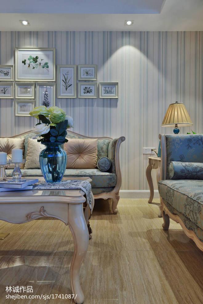 美式风格客厅背景墙效果图欣赏