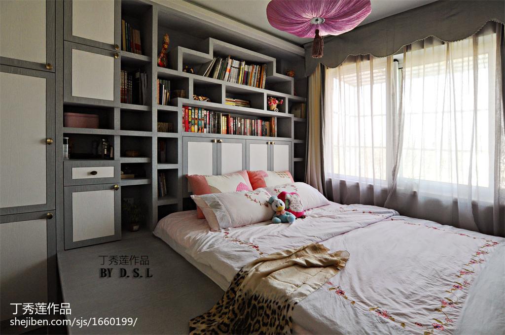 小户型混搭卧室窗帘装修图片