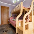 小户型混搭儿童房子母床装修
