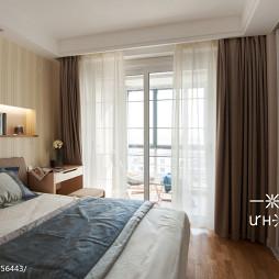 混搭两室两厅卧室窗帘装修效果图大全2017图片
