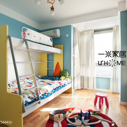 混搭儿童房窗帘装修效果图大全