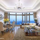 现代别墅豪宅客厅吊顶装修