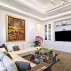 现代别墅豪宅客厅背景墙装修图片
