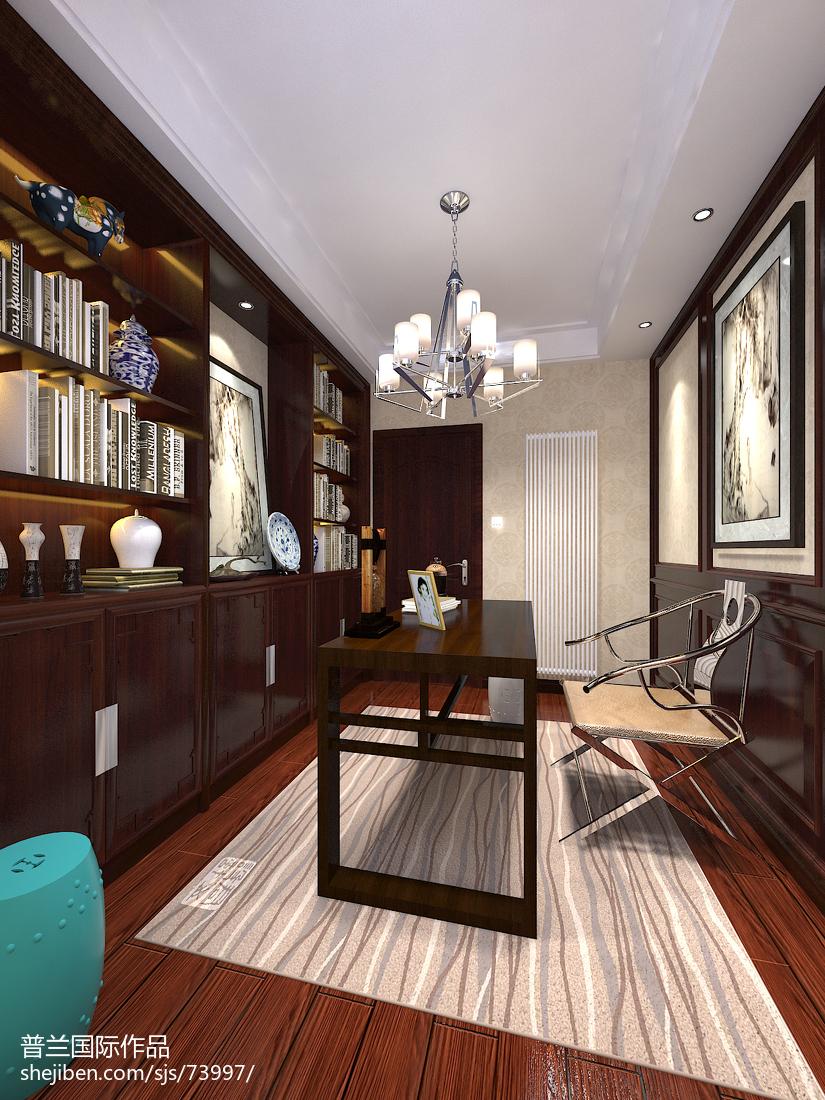 生活资讯_新中式书房书架装饰图片 – 设计本装修效果图