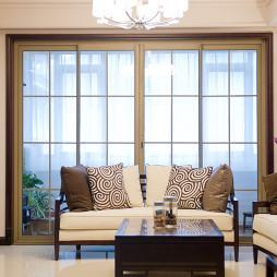 新中式混搭新古典客厅窗户装修图片