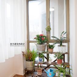 新中式混搭新古典阳台装修图片