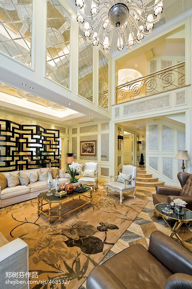 地中海风格别墅图片_欧式风格酒店别墅客厅隔断装修图片 – 设计本装修效果图
