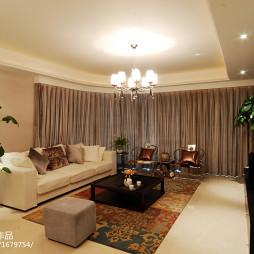 混搭公寓客厅圆形窗设计