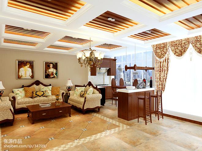 东南亚客厅设计室内地面铺装效果图大全