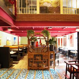 混搭风格中餐厅吊顶装修效果图
