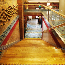 混搭风格中餐厅楼梯装修效果图