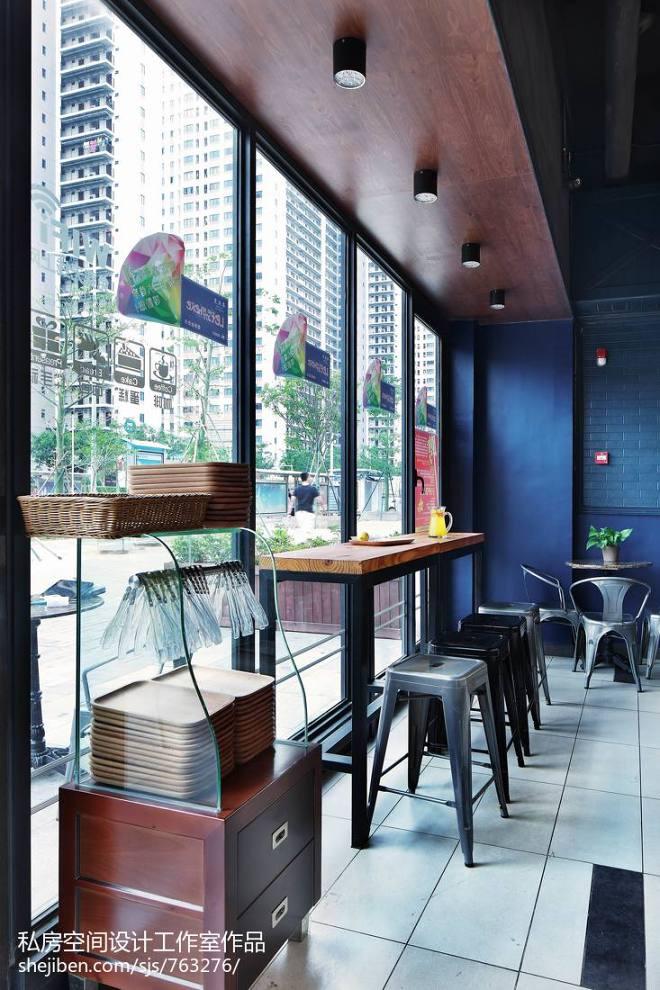 混搭风咖啡厅吧台装修图