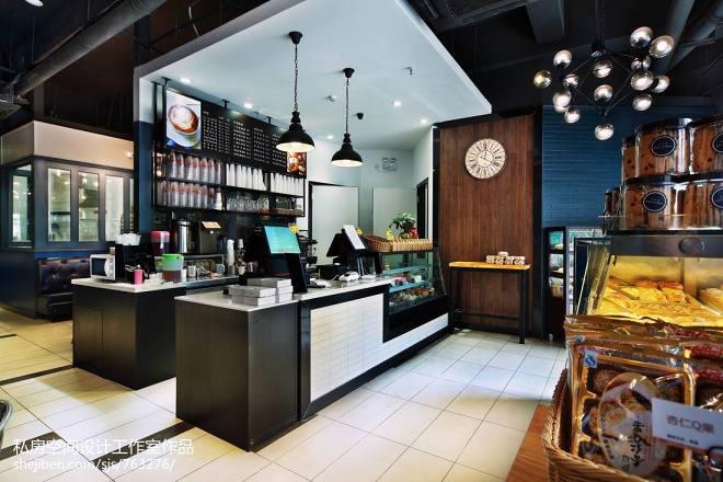 混搭风咖啡厅收银台装修图