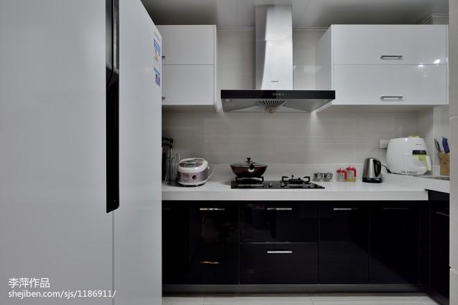 中式风格厨房装修效果图大全2017图