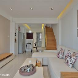 两室两厅现代简约客厅装修效果图大全