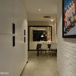 现代风格玄关背景墙装修设计图