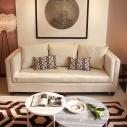 交换空间现代风格小户型客厅背景墙装修