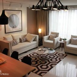 交换空间现代风格小户型客厅装修图片