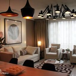 交换空间现代风格小户型客厅吊顶装修图