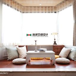 混搭风格三室两厅休闲区榻榻米装修图