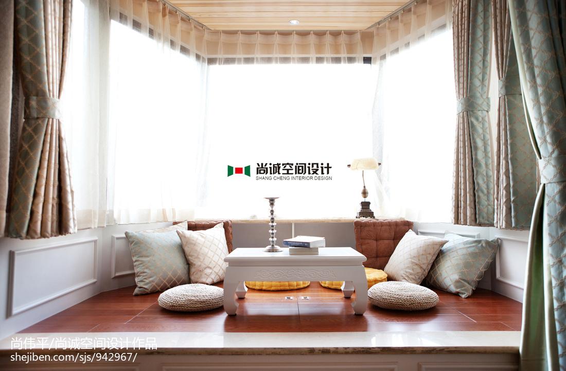 伟诚_混搭风格三室两厅休闲区榻榻米装修图 – 设计本装修效果图