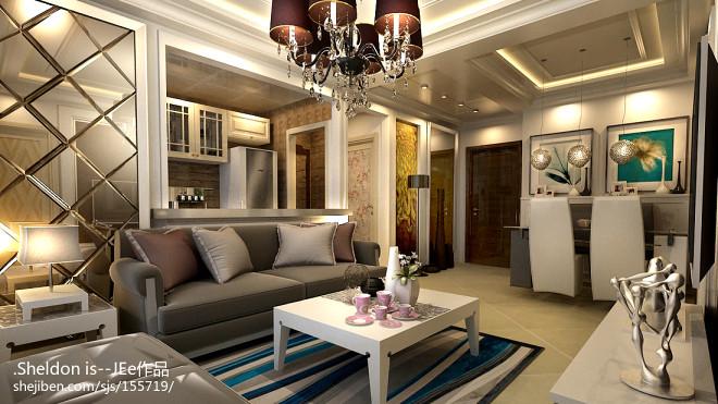 混搭式新房客厅装修设计图