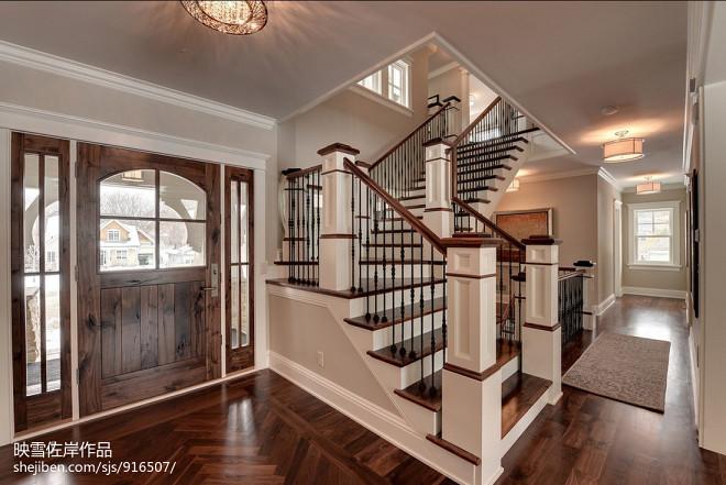 美式别墅楼梯设计图